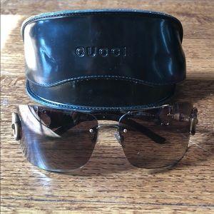 Gucci horse bit frameless sunglasses